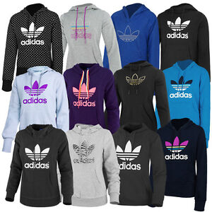 adidas trefoil hoodie damen kapuzen sweatshirt originals pullover. Black Bedroom Furniture Sets. Home Design Ideas