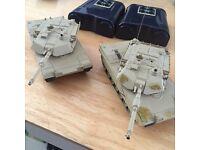 Abrams 1/60 mini rc tanks. Made by Kyosho.
