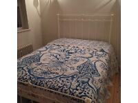 Double metal bed frame in Ivory finish. Laura Ashley style