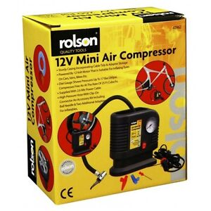 Rolson-250PSI-12v-Mini-Air-Compressor-Tyre-Inflator-Car-Bike-Bed-Pump-Cigarette