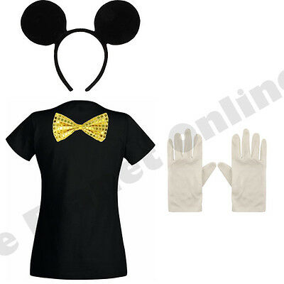 CHILDRENS KIDS GIRLS BOYS CHILD MICKEY MOUSE FANCY DRESS COSTUME TV FILM - Mickey Mouse Costumes For Girls