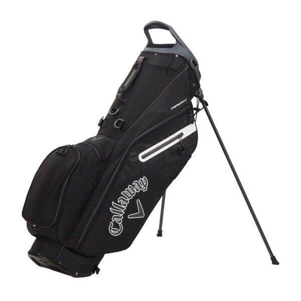 Callaway Fairway C Stand Golf Bag Double Strap - Black/Charcoal/White - New 2021