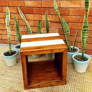 Rustic Shabby Chic Solid Timber Coffee Table Storage Cube Coogee Eastern Suburbs Preview