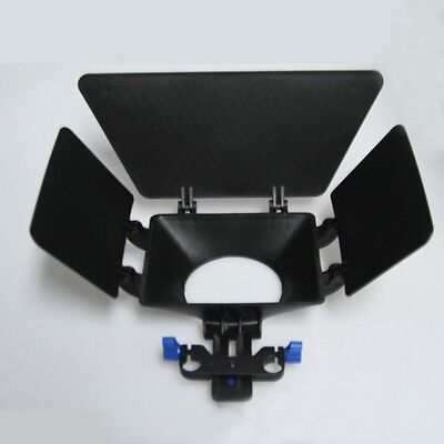 DSLR DV Video Camera Matte Box For 15mm Rail Rod Rig Suppot System Follow Focus