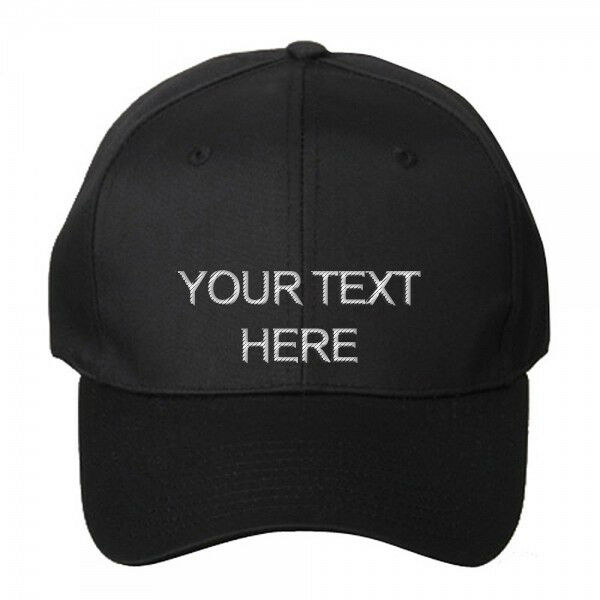 Изображение товара Custom Personalized Embroidered Text on Dad Hat Cap Snapback Folded Brim - New