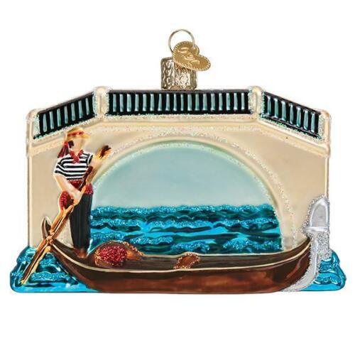 Old World Christmas GONDOLA (46093)N Glass Ornament w/ OWC Box
