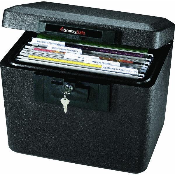 Fireproof Document Safe Security Box Storage Chest Key Lock Files Cash Gun New