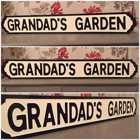 Christmas gifts, hand carved, hand painted, street signs, choose your own words, free delivery