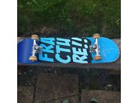 Fracture skateboard rarely used as seen in photos cheap bought for £63