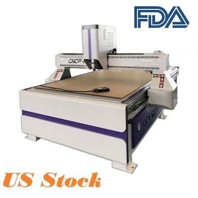 3kw Cnc Router Engraving Cutting Machine With Vacuum Table 1300x2500mm Dsp