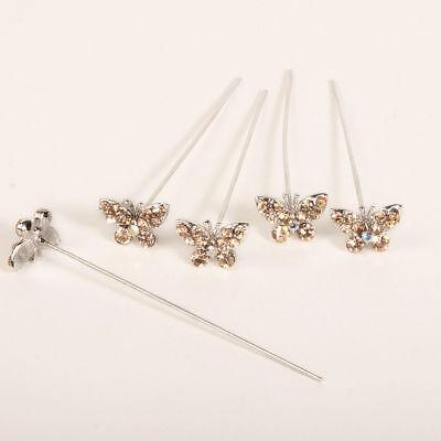 künstlich Diamant Diamanten Schmetterling Pins x 5 hell gold