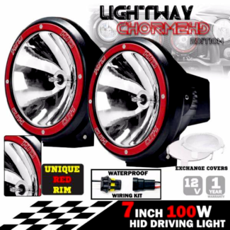 PAIR 7INCH HID XENON 100W DRIVING LIGHTS Spotlight OFFROAD LAMP
