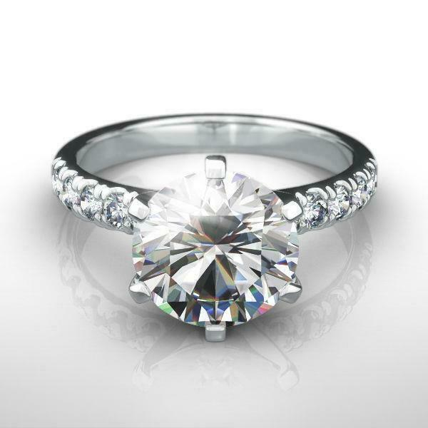 Diamond Ring Round Awesome Estate 1.56 Ct 14 Karat White Gold Anniversary Si2
