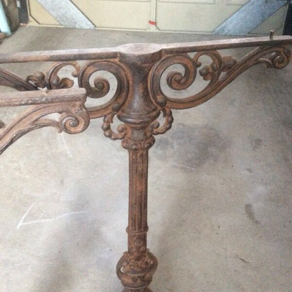 Antique Cast Iron French Table Legs Pair In Salisbury Wiltshire