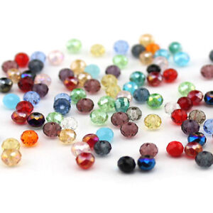 New-Faceted-100pcs-Rondelle-exquisite-crystal-5040-3x4mm-Beads-U-pick-colors