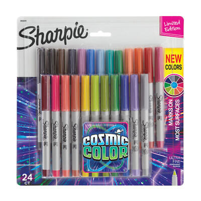 Sharpie Permanent Ultra-fine Point Markers Assorted Colors Pack Of 24 Markers