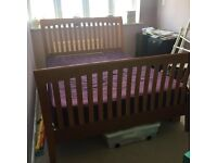 Lovely wooden sleigh double bed frame