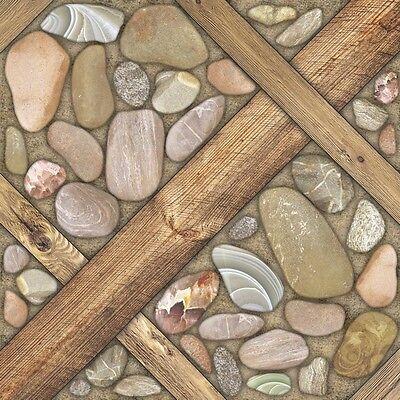 Fliese Arizona Brown 42x42 Feinsteinzeug Bodenfliese Holz - Stein # 22,67€/qm Brown Böden