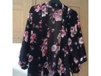 New Look floral wrap/jacket size 8