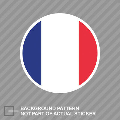 Round French Flag Sticker Decal Vinyl France circle ()