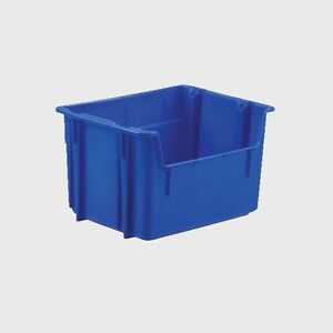 Blue Recycling Stacking Hopper Storage Bin/Tote/Container