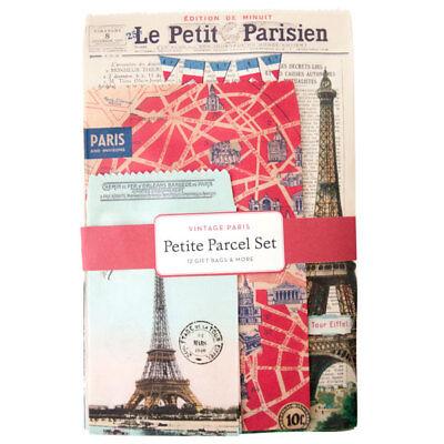 Cavallini & Co. Vintage Paris Petite Parcel Set, Birthday Gift Wrap Bags](Tiny Gift Bags)