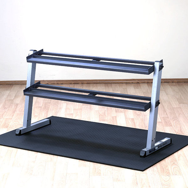 Body-Solid 2 Tier Horizontal Dumbbell Rack GDR60 - Heavy Duty Commercial Storage