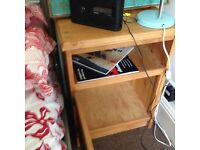 Solid pine beautifully crafted bedside cabinet unit