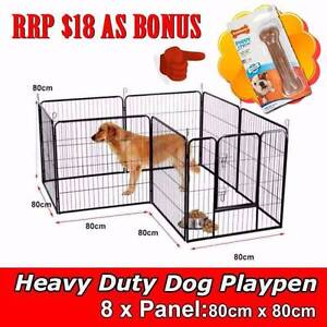 New Heavy Duty Pet Dog Playpen Exercise Fence 8 Panel Enclosure Welshpool Canning Area Preview