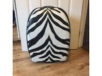 Good Condition Medium Zebra Print Suitcase