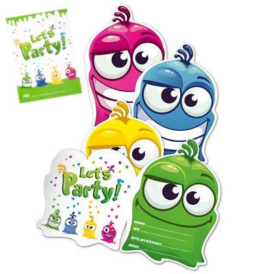 8 Einladungskarten Kinderparty Kindergeburtstag Jungen Mädchen Einladungen Party ()
