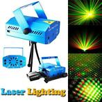 Mini Laser Stage lighting disco Rood/Groen muziekgestuurd