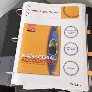 Managerial Accounting 7th Edition - Weygant, Kimmel & Kieso