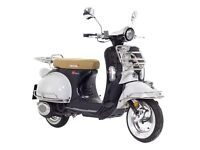 Leximoto Milano 125 Retro Scooter, delivery miles only