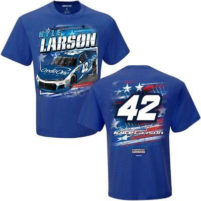 Kyle Larson 2018 Checkered Flag Sports  42 Credit One Patriotic Tee Free Free