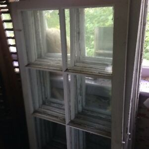 Vintage wood frame windows