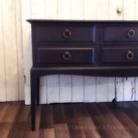 Beautifully Refinished 6 Drawer Entry Table