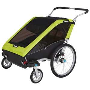 THULE DOUBLE STROLLER FOR SALE with infant sling and jogger