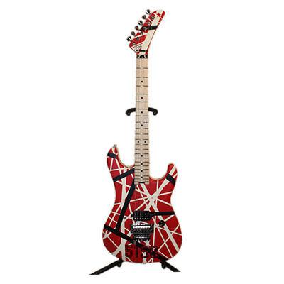 "EVH Striped Series 5150 Maple FB Electric Guitar - R/B/W ""5150"" Striped Pattern"