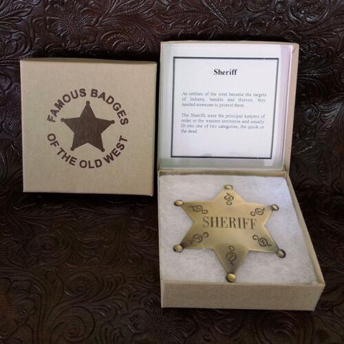 Sheriff Star Brass Badge
