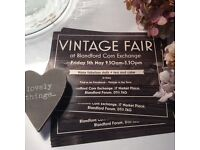 Vintage Fair in Blandford Forum on Friday 5th May