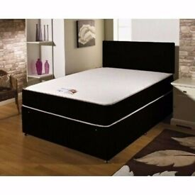 💛💛SAME DAY FREE DELIVERY💛💛NEW DOUBLE DIVAN BED BASE INCLUDING MATTRESS (Headboard Optional)
