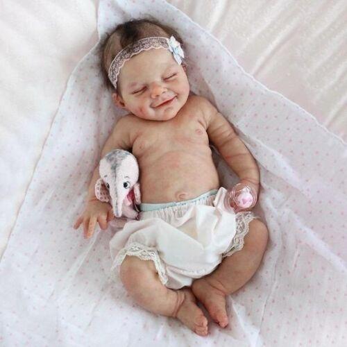 "Reborn Sasika Newborn Baby 20"" Doll Silicone Preemie Lifelike Toddler Cuddly"