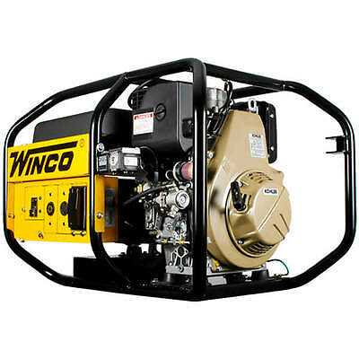 Winco W6010de - 5160 Watt Electric Start Portable Industrial Diesel Generator