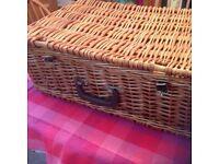 Vintage Antler picnic basket