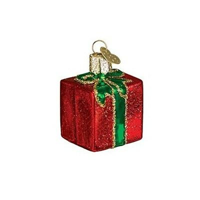 Old World Christmas Gift Box Glass Ornament Assorted Colors ()