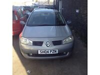 QUICKSALE WANTED RENAULT MEGANE 2004 1.4petrol long MOT