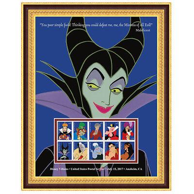 USPS New Disney Villains Maleficent Framed Art
