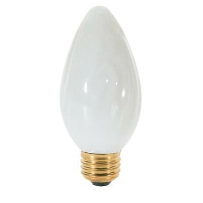 4 PACK Satco S3368 120V Medium Base 40-Watt F15 Light Bulb, White F15 Medium Base