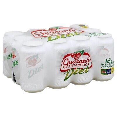 350 Ml Cans (Guarana Antarctica Diet(Brazilian Soda) 350ml | 11.83 Fl.Oz Pack With 12)